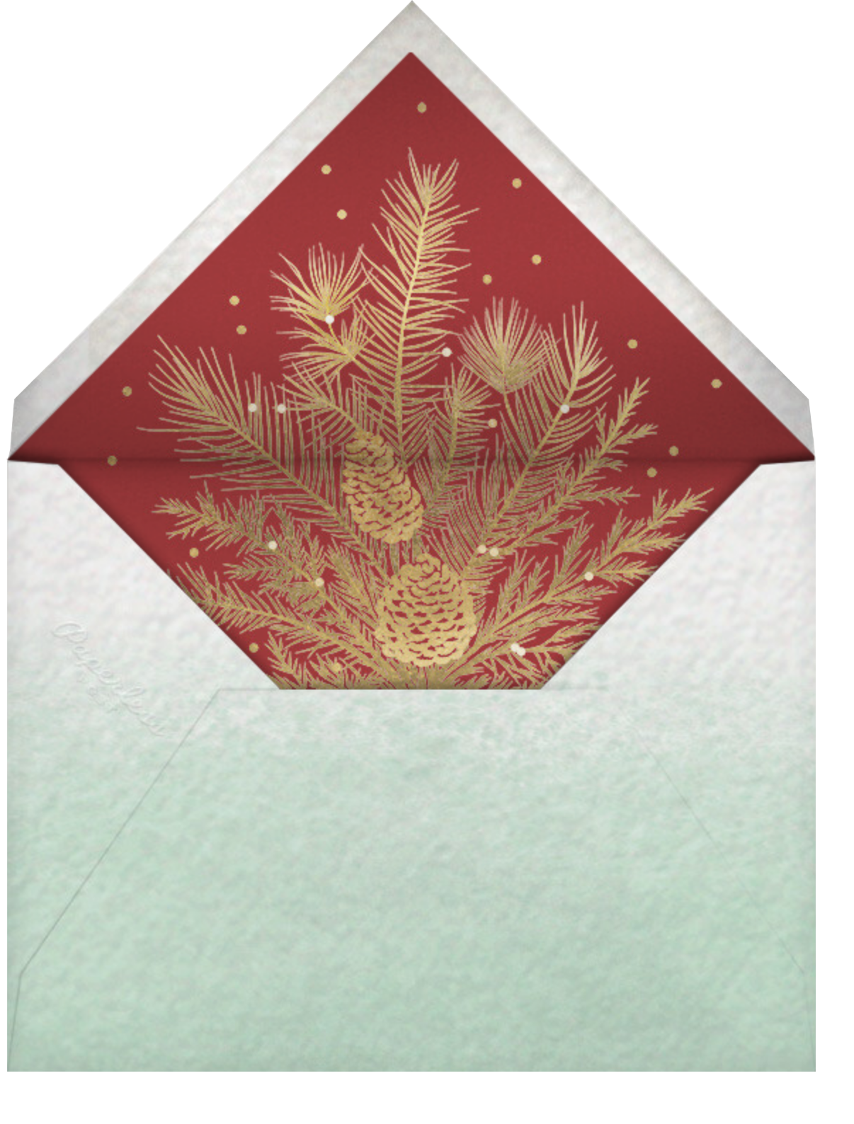 Retro Christmas (Tall) - Paperless Post - Christmas - envelope back