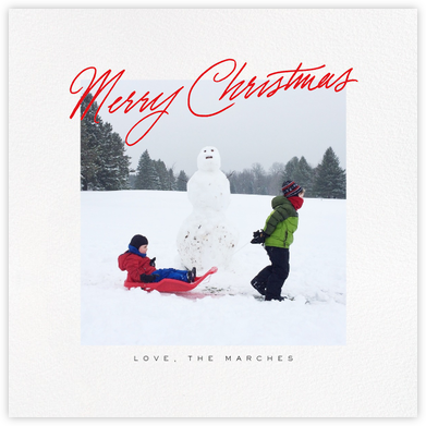 Inscribed Christmas (Square) - Red - Paperless Post -