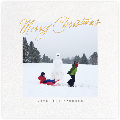 Inscribed Christmas (Square) - Gold - Paperless Post -