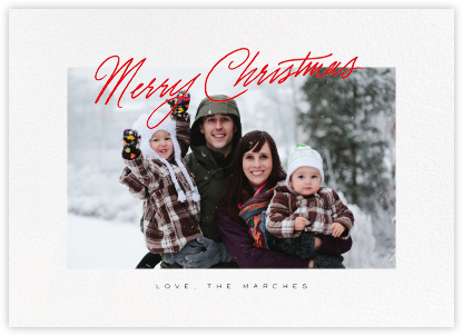 Inscribed Christmas (Horizontal) - Red - Paperless Post - Christmas Cards