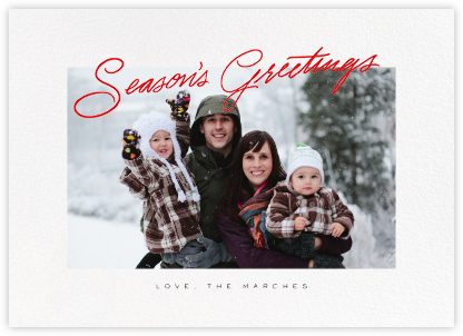 Inscribed Greetings (Horizontal) - Red - Paperless Post - Holiday Cards