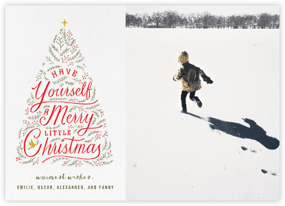 Written in Tinsel (Photo) - White - Paperless Post - Photo Christmas Cards