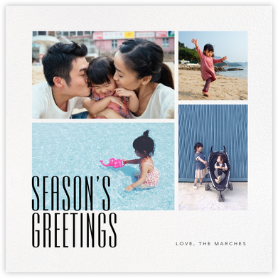 Season's Gallery (Square) - Paperless Post - Holiday Cards