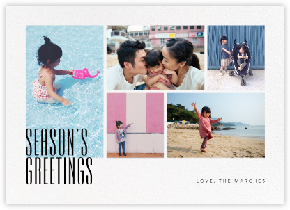 Season's Gallery (Horizontal) - Paperless Post - Holiday Cards
