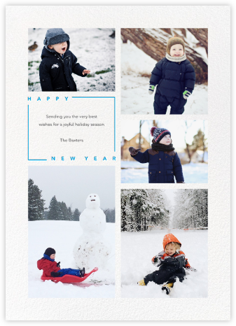 Minimalist New Year (Tall) - Paperless Post -