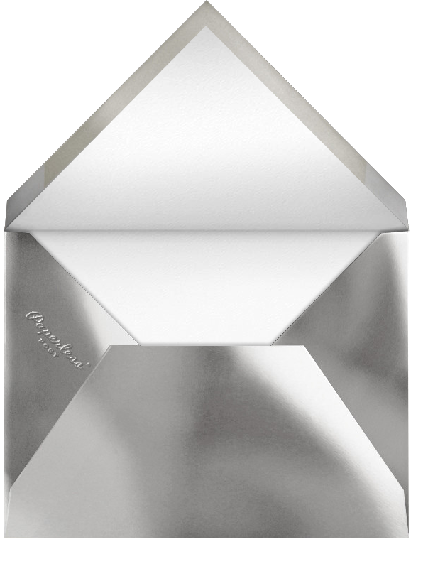 Carreaux - White/Silver - Paperless Post - Envelope