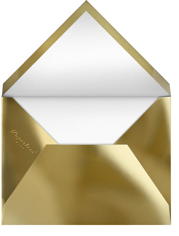 Carreaux  - White/Gold - Paperless Post - Holiday cards - envelope back
