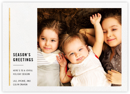 Carreaux  - White/Gold - Paperless Post - Holiday Cards