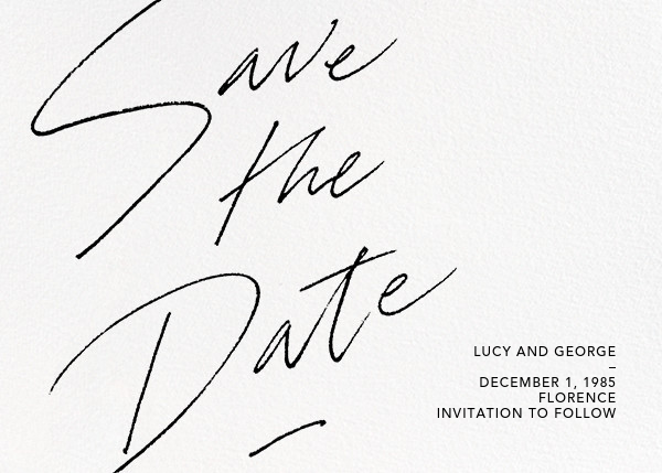 Markham - Paperless Post - Save the dates