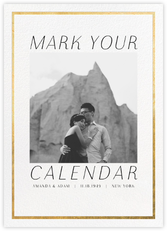 Fronzoni - Gold - Paperless Post - Photo save the dates