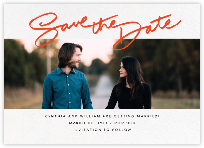 Leigh - Paperless Post - Photo save the dates