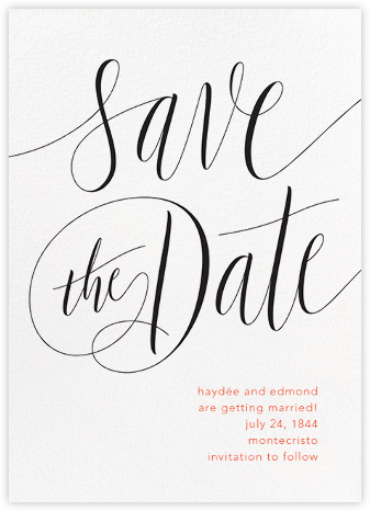 Saint-Preux - Black - Paperless Post - Save the dates