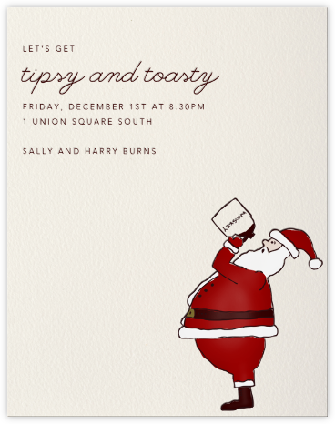 Whiskey Santa (tall) - Paperless Post -