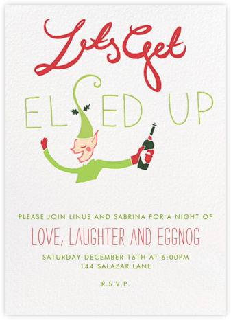 Let's Get Elfed Up - Fair - Paperless Post - Invitations