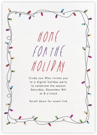 Holiday Lights - Paperless Post - Holiday invitations