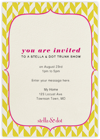 Stella And Dot Vertical - Yellow - Paperless Post -