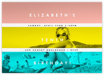 Three Photo Stripes - Paperless Post - Birthday invitations