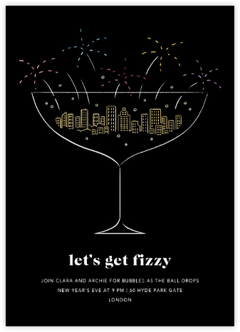 Prosecco Pyrotechnics - Paperless Post - New Year's Eve Invitations