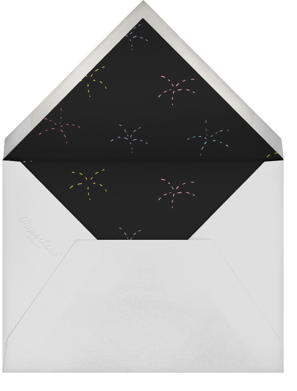Prosecco Pyrotechnics - Paperless Post - New Year's Eve - envelope back