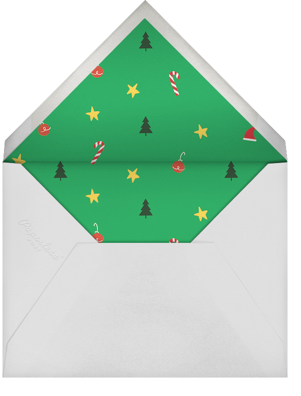 Christmas Casual - Paperless Post - Holiday party - envelope back