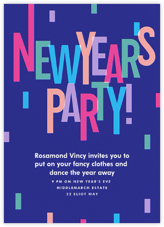 New Year Cascade - Paperless Post - New Year's Eve Invitations