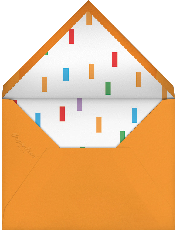 Birthday Cascade - Paperless Post - Adult birthday - envelope back
