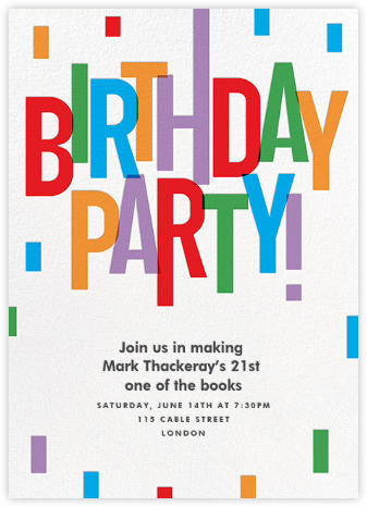Birthday Cascade - Paperless Post - Adult Birthday Invitations