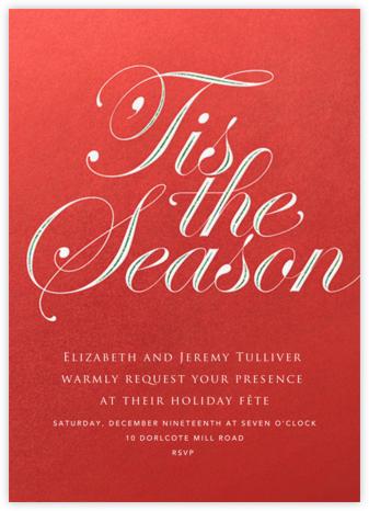 Season's Flourish - Red - Paperless Post - Holiday invitations
