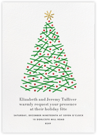 Crisscross Tree - White - Paperless Post - Christmas invitations