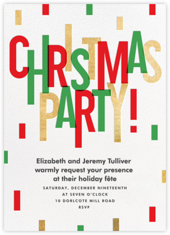 Christmas Cascade - Paperless Post - Christmas party invitations