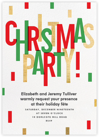 Christmas Cascade - Paperless Post - Christmas invitations