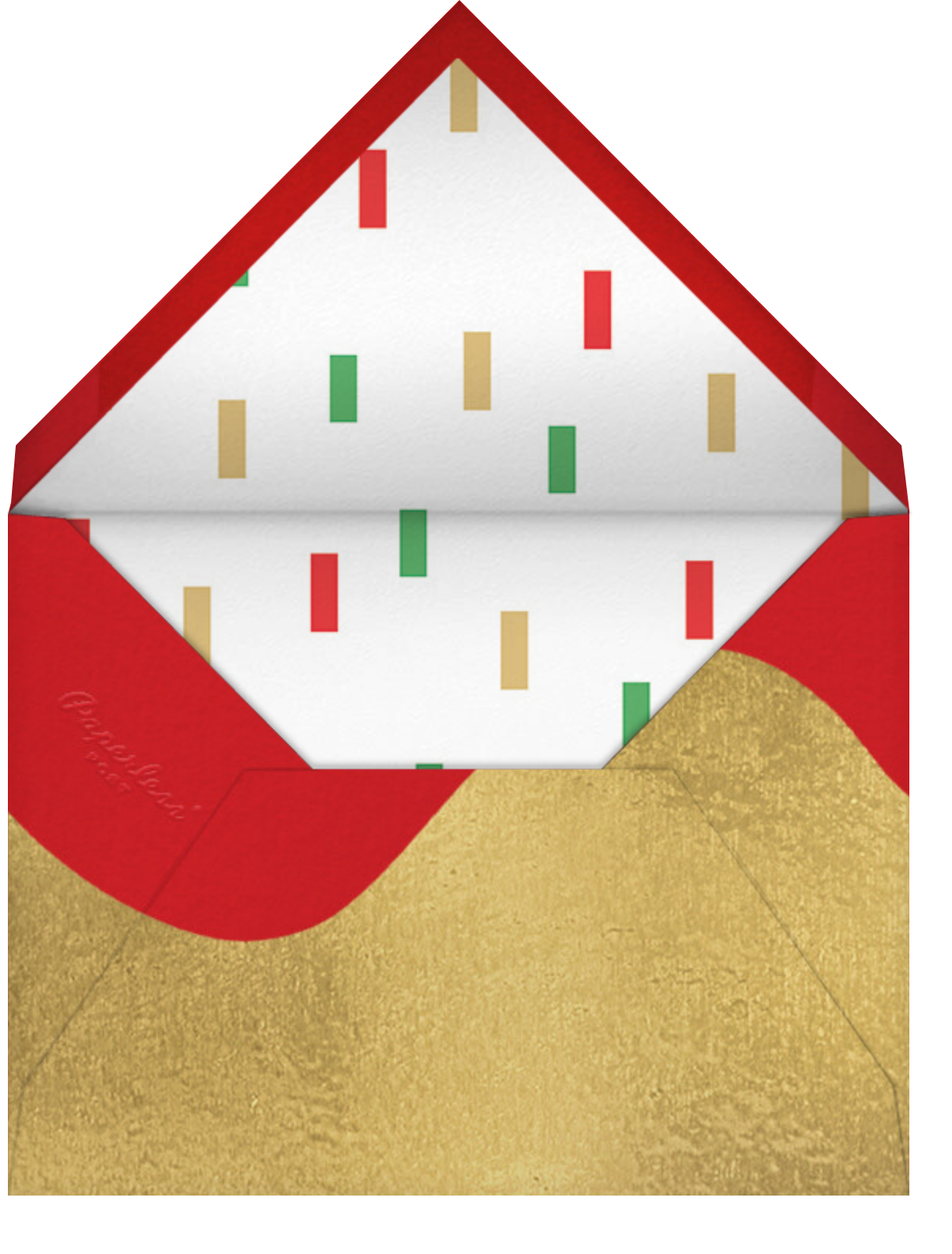 Christmas Cascade - Paperless Post - Christmas party - envelope back