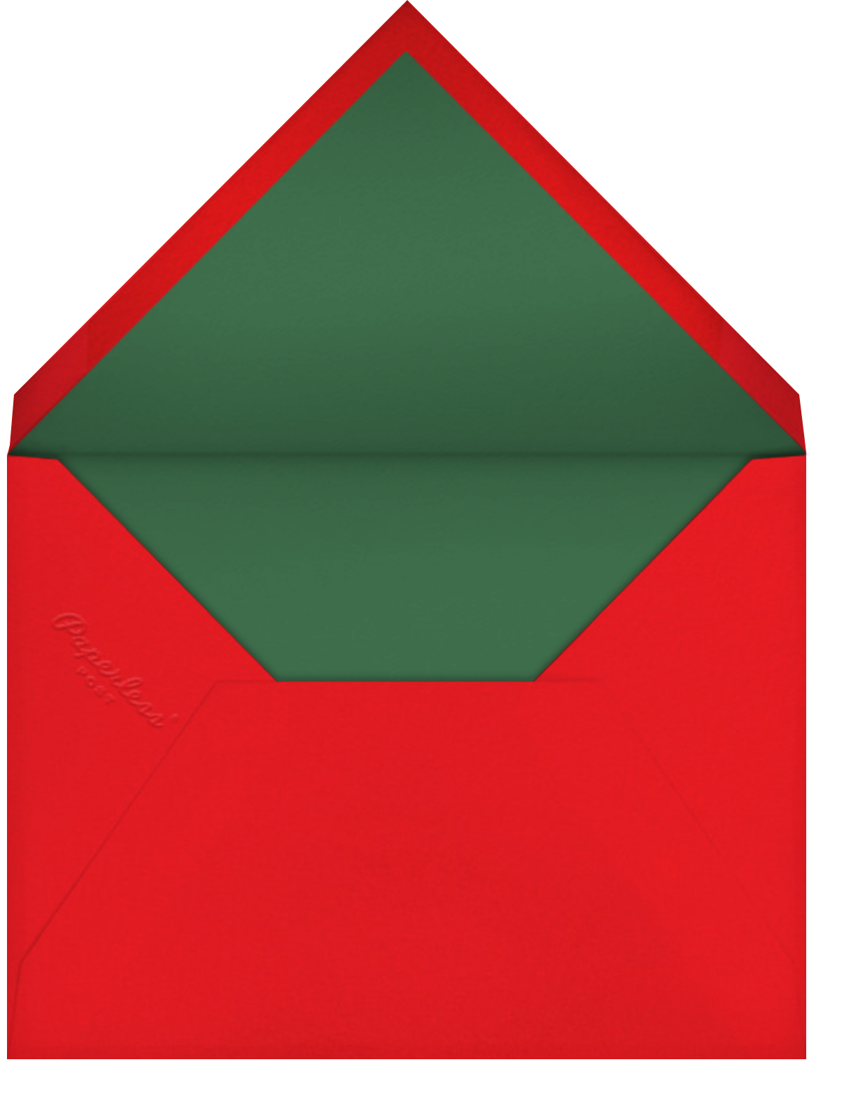 Yuletini - Paperless Post - Company holiday party - envelope back