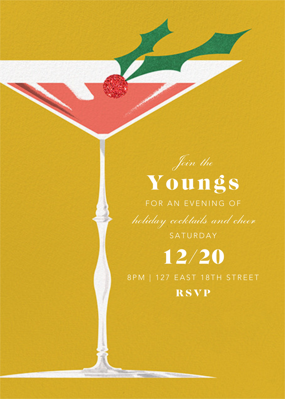 Yuletini - Paperless Post - Holiday party invitations