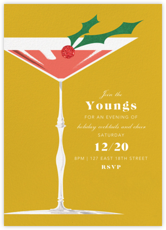 Yuletini - Paperless Post - Professional party invitations and cards