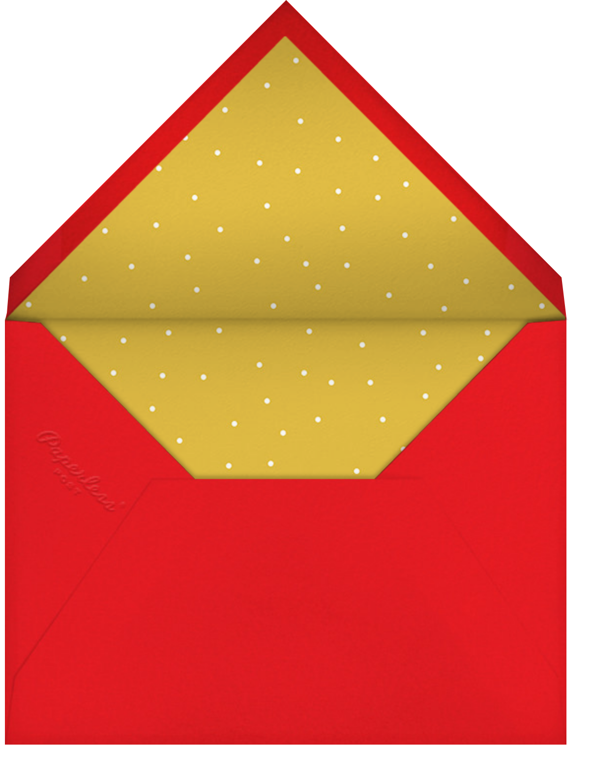 Jaunty Party (Photo) - Emerald - Paperless Post - Holiday party - envelope back
