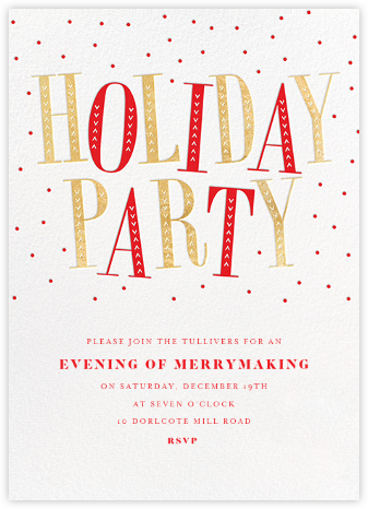 Jaunty Party - White - Paperless Post - Christmas invitations