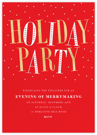 Jaunty Party - Red - Paperless Post - Holiday invitations