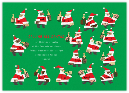 Calling All Santas - Paperless Post - Business Party Invitations