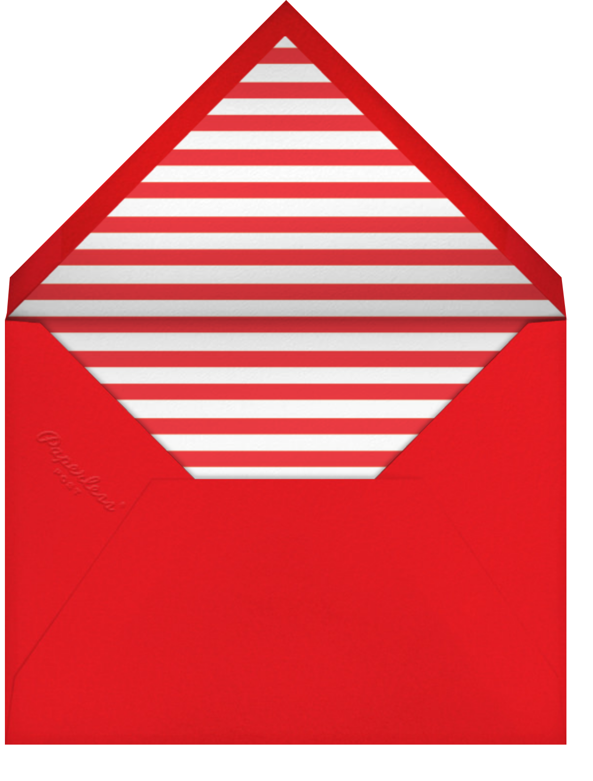 Calling All Santas - Paperless Post - Christmas party - envelope back