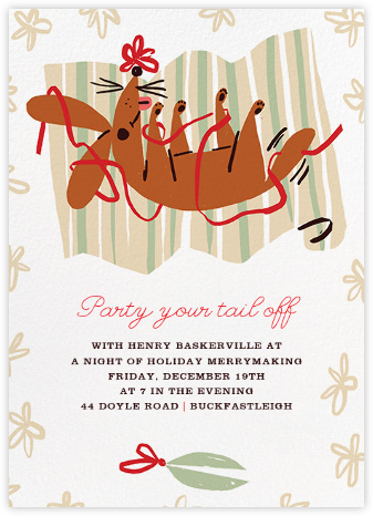 Wrap It Up with a Bow - Paperless Post - Holiday invitations