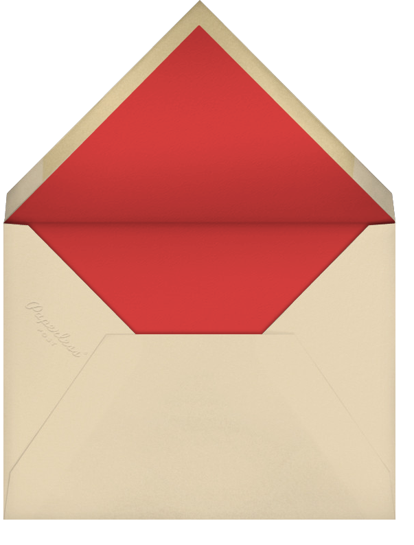 Wrap It Up with a Bow - Paperless Post - Christmas party - envelope back