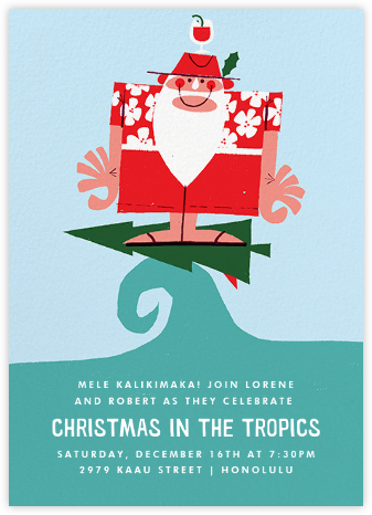 Mele Kalikimaka - Paperless Post - Invitations