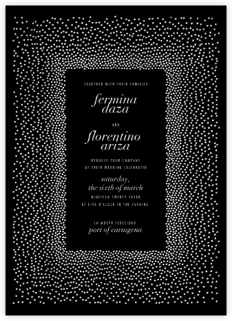 Jubilee II - Black - Kelly Wearstler - Wedding Invitations