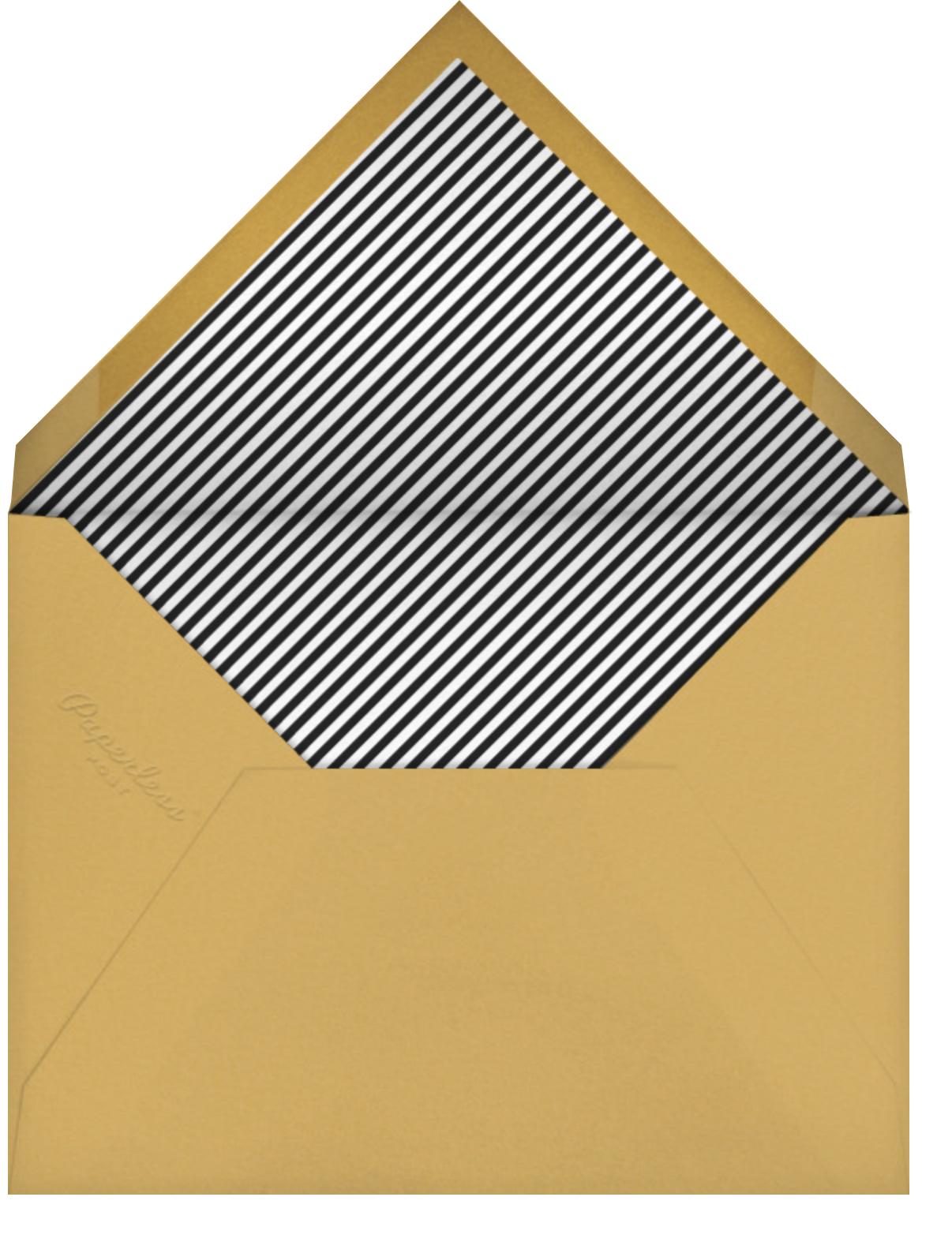 Sweden in the Summer - Sunshine - Mr. Boddington's Studio - Western party invitations - envelope back