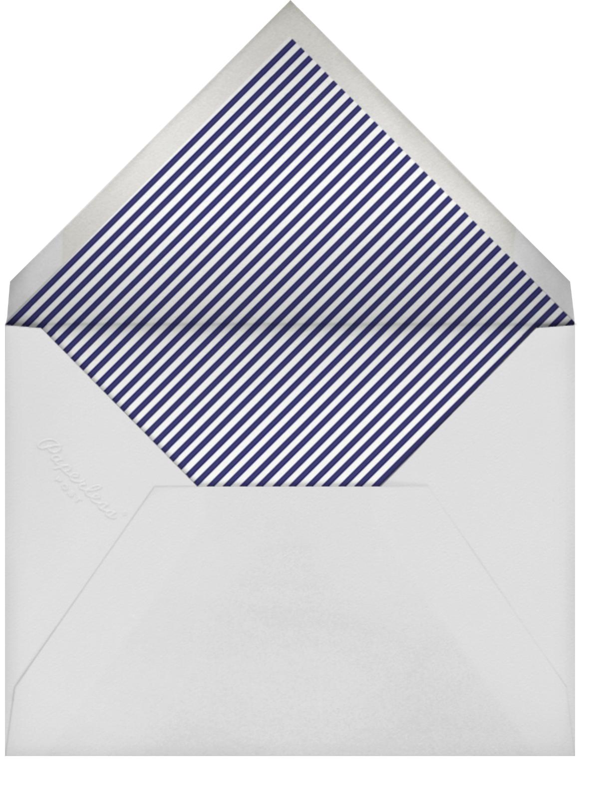 Sweden in the Summer - Blue - Mr. Boddington's Studio - Baby shower - envelope back