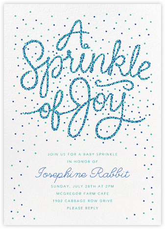 Sprinkle of Joy - Blue - Paperless Post - Baby shower invitations