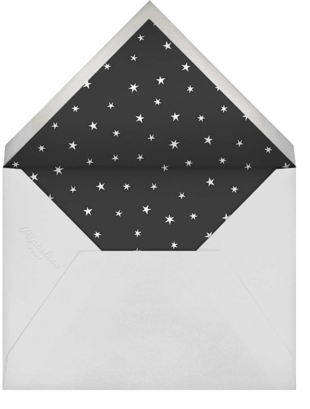 Nightly (Tall Photo) - Navy/Gold - Paperless Post - Holiday cards - envelope back