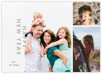 New Year Cutouts (Horizontal Multi-Photo) - Silver - Paperless Post -