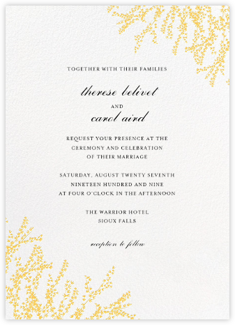 Forsythia (Invitation) - Citrus - Paperless Post -